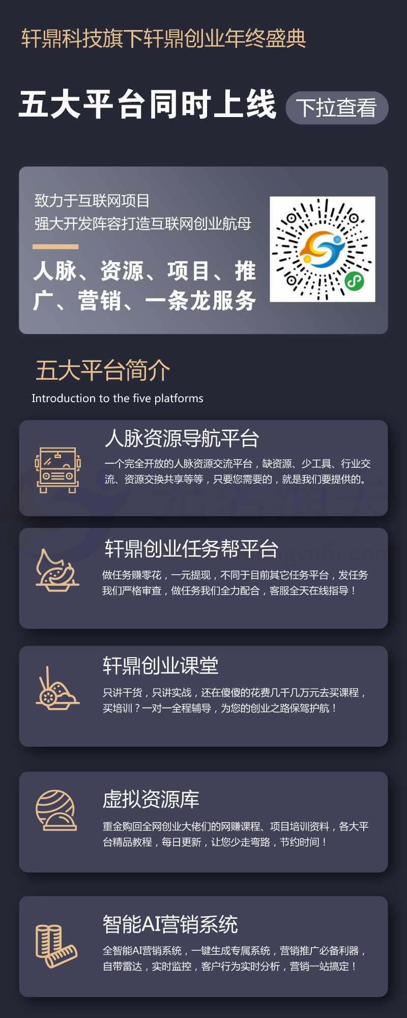轩鼎创业五大平台