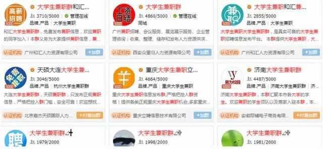 大学生兼职群QQ群搜索结果