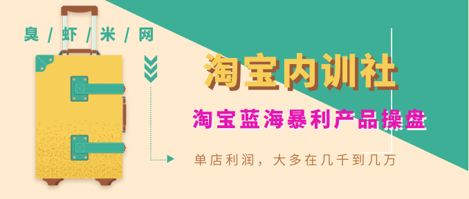 《淘宝内训社》淘宝蓝海暴利产品操盘,单店利润,大多在几千到几万  第1张